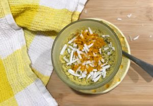 Turmeric and Ginger Chia Pudding