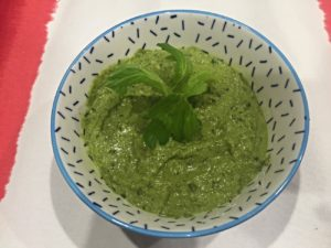 Celery Leaf Pesto in a Bowl