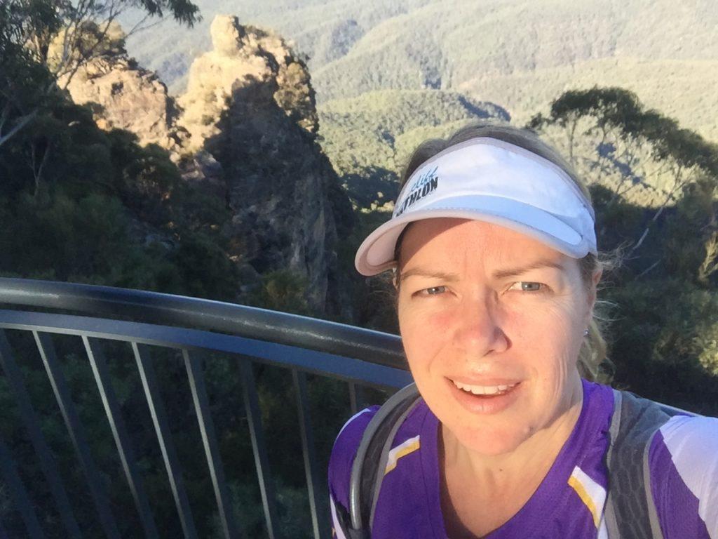 Amanda Vegan runner blue mountains