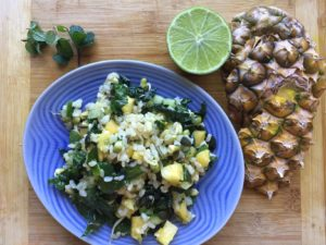 Pineapple Mint Rice Salad