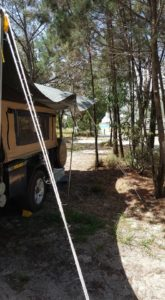 Camper trailer side angle
