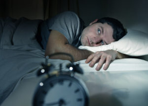 man with insomnia