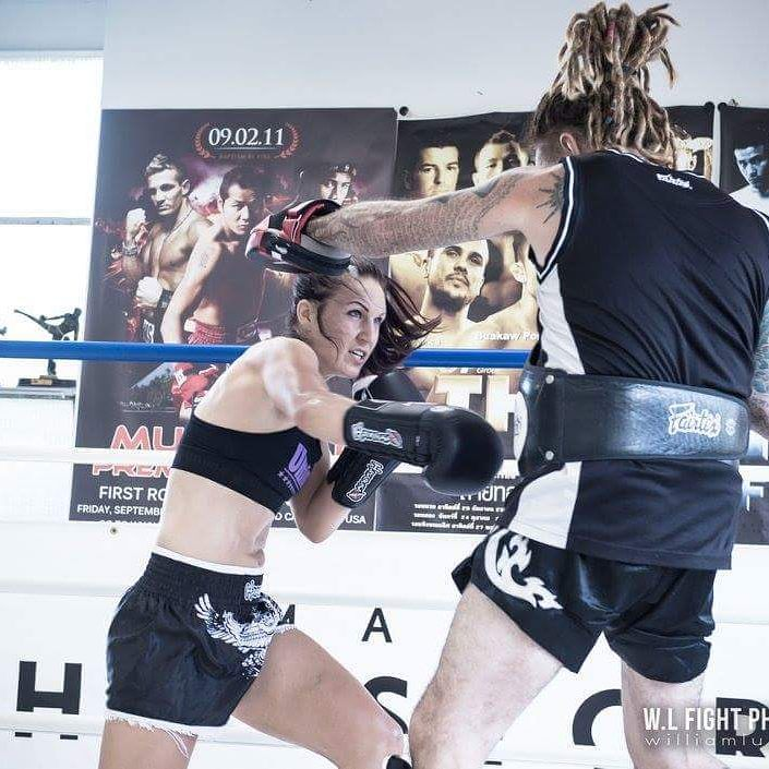 woman boxing in ring