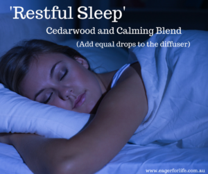 Woman sleeping-essential oil blend