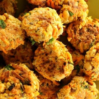 Chickpea bites for dogs