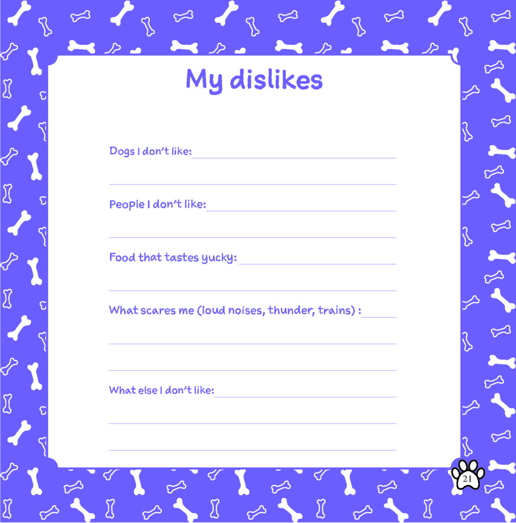 dislikes of dog