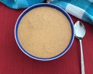 Tomato almond coconut soup