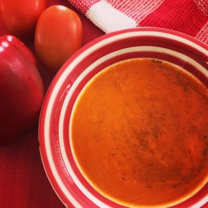Tomato and Roasted Red Capsicum Soup