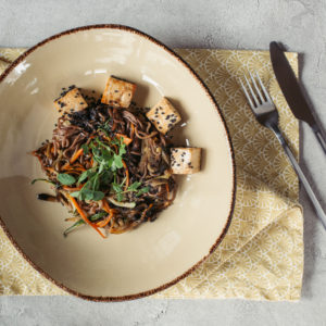 asian veg soba noodles